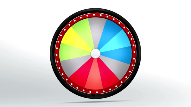 red blue and green colors in black fortune wheel video