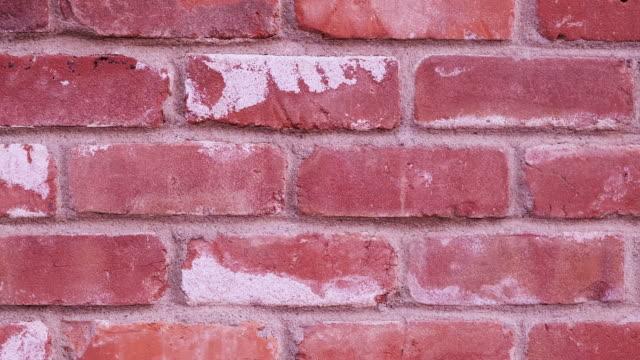Red bricks wall full frame panning background