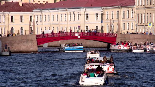 Red Bridge in St. Petersburg video