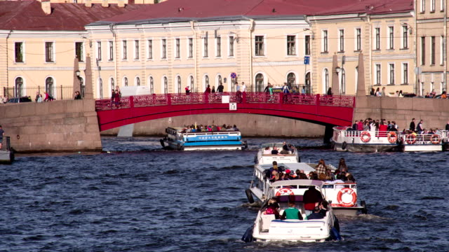 Red Bridge on the Moika River video