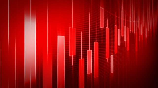 red business graph background - candeliere video stock e b–roll