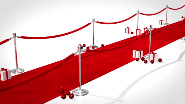 Red Carpet Christmas Themed Loopable video