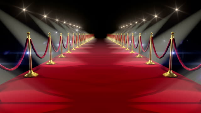 Red Carpet. Looped animation. HD 1080. video