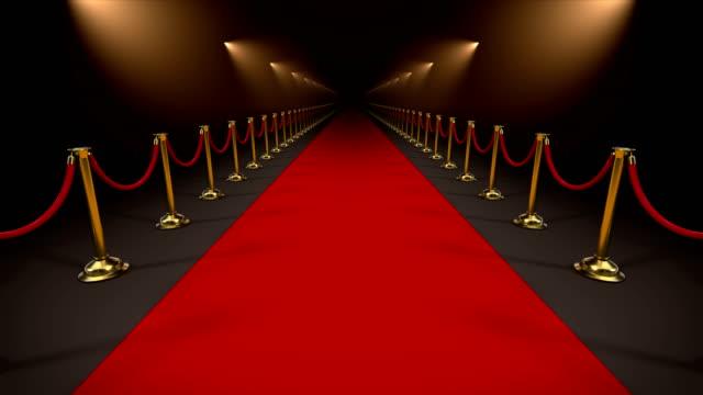 vídeos de stock, filmes e b-roll de tapete vermelho, loop de animação com máscara alfa - eventos de gala