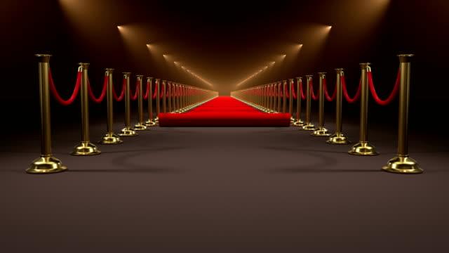 vídeos de stock, filmes e b-roll de tapete vermelho, animação com máscara alfa de rolamento - eventos de gala