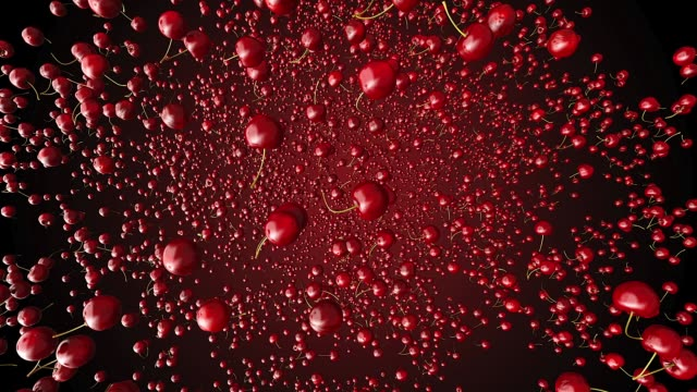 red cherries flying towards the camera on white bacground red cherries flying towards the camera on white bacground. cherry stock videos & royalty-free footage