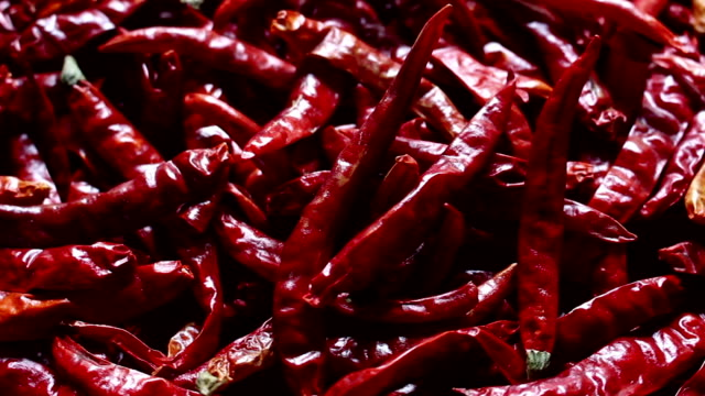 red chili rotate close up red chili rotate chili pepper stock videos & royalty-free footage