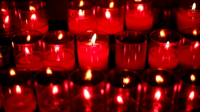 red church candles video