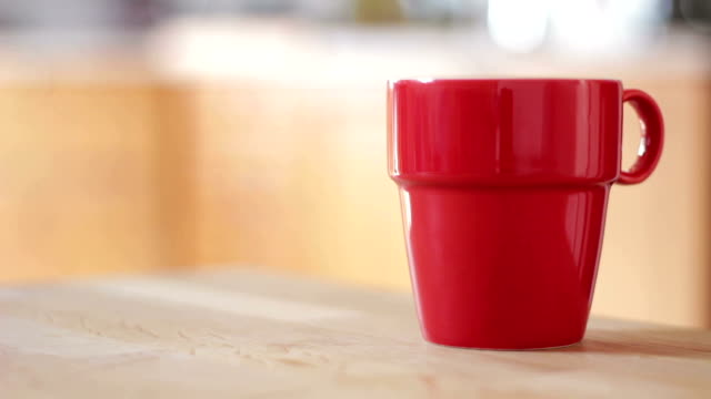 Red Coffee Cup - Kitchen video