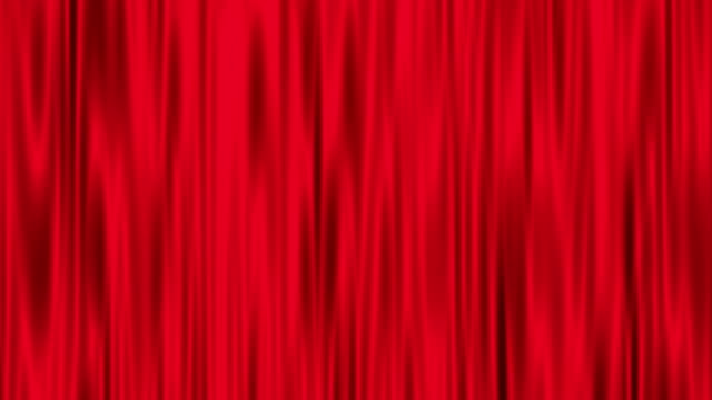 Red curtain rippling animation video