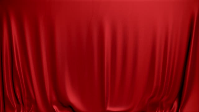 Red curtain tumbling down. video