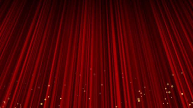 red curtain - circus stok videoları ve detay görüntü çekimi