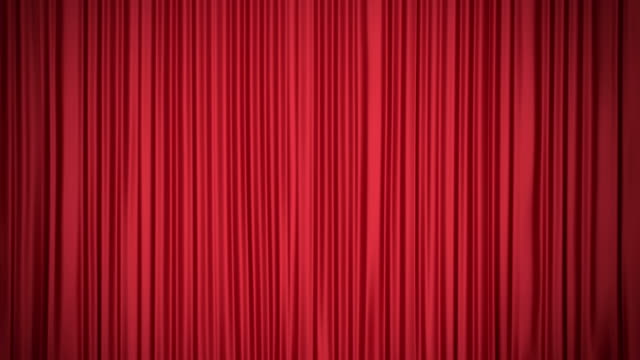 kırmızı perde - circus stok videoları ve detay görüntü çekimi