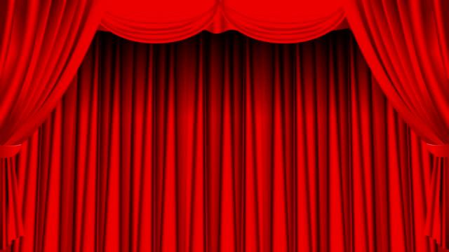 vídeos de stock, filmes e b-roll de cortina vermelha - arte, cultura e espetáculo