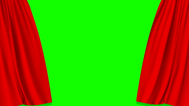 red curtains open and close with green screen - grand opening stock videos and b-roll footage