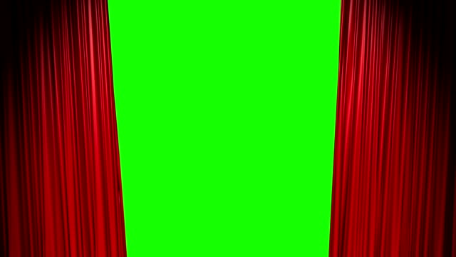 red curtains open and close with green screen - öppen bildbanksvideor och videomaterial från bakom kulisserna