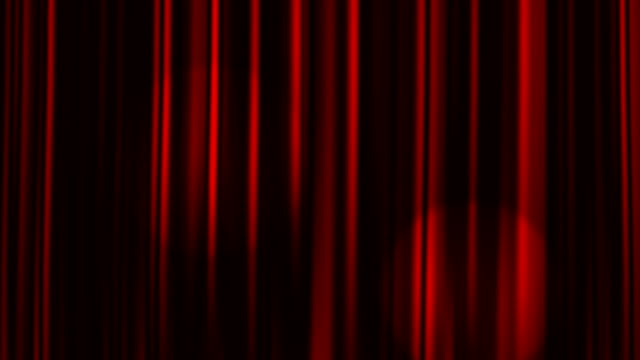 Red Curtains Open with Spotlights, Alpha Matte video