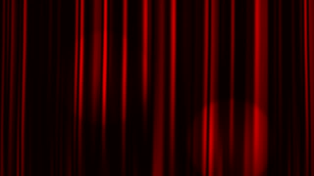 赤のカーテンを開く、スポットライト、アルファマット - オペラ点の映像素材/bロール