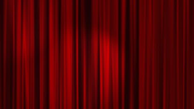Red Curtains Open with Spotlights plus Alpha Luma Matte HD
