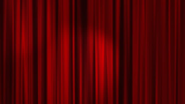 Red Curtains Open with Spotlights plus Alpha Luma Matte HD video