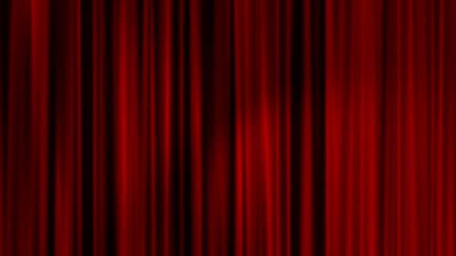 Red Curtains with Spotlights Looping Background - HD video