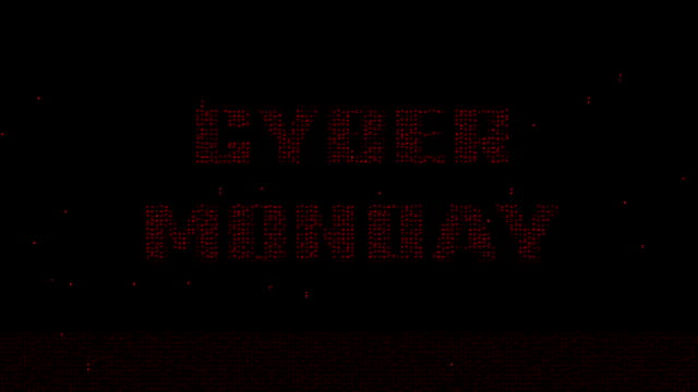 Red Cyber Monday logo animated background video