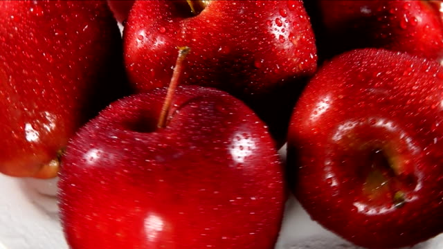 Red delicious apples video
