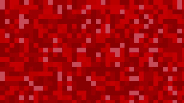Red digital squares background video