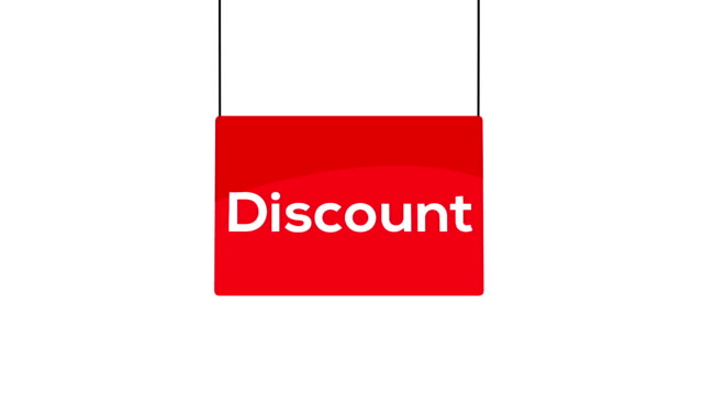 Red discount sign video