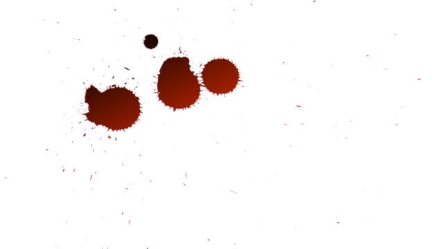stockvideo's en b-roll-footage met red drops of blood - bespatterd