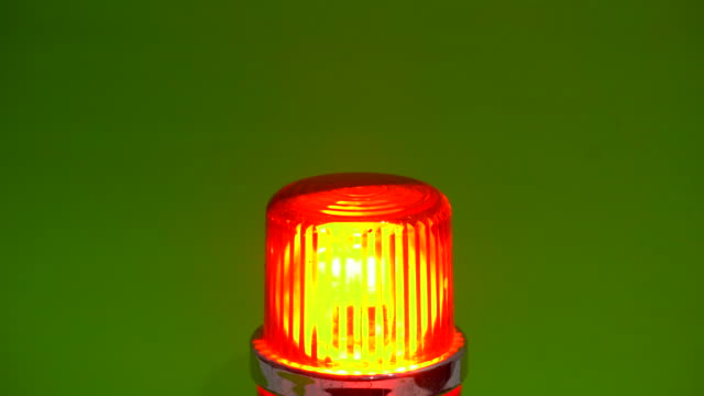 Red emergency Siren lamp rotating in Chroma Key