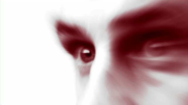 Red Eyes (HD) A close-up of a man's eyes looking off camera. (1080i source) 笹 stock videos & royalty-free footage