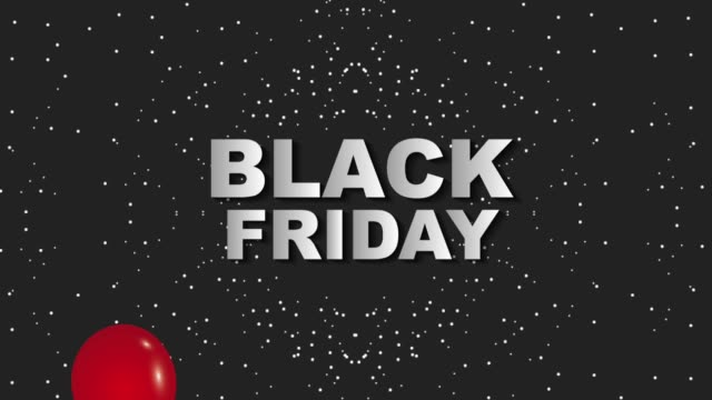 red falling balloons black friday dark dotted background black friday animation hd - black friday стоковые видео и кадры b-roll