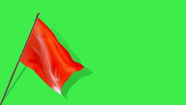 red flag rising