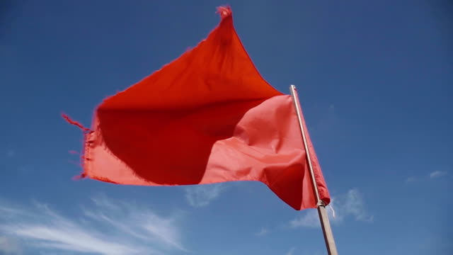 Red Flag Slow motion Red Flag Slow motion warning sign stock videos & royalty-free footage