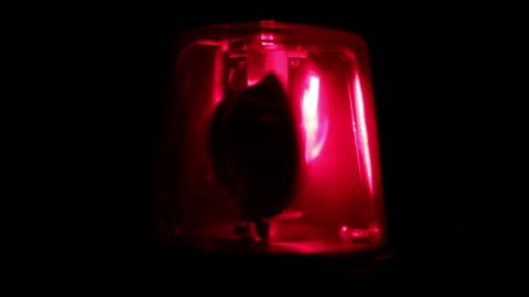 vídeos y material grabado en eventos de stock de luz intermitente rojo-sirena de advertencia de emergencia - rojo