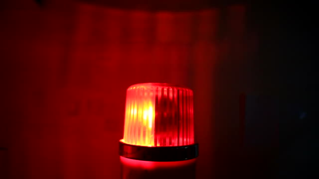 Red flashing warning siren light - Emergency services