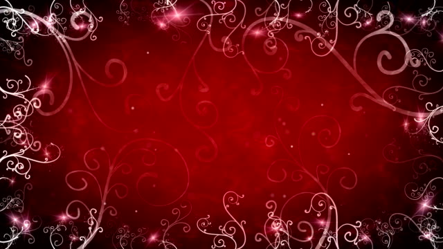 red flourishes frame loop background video