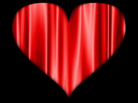 red fließenden herz - begriffssymbol stock-videos und b-roll-filmmaterial