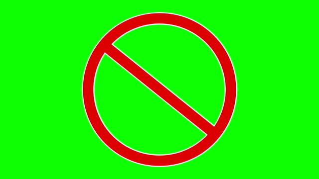 Red forbidden traffic sign. Available in FullHD