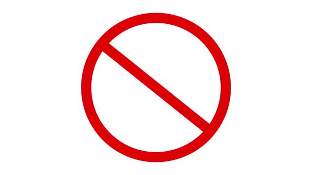 vídeos y material grabado en eventos de stock de rojo prohibido señal de tráfico en blanco. - stop sign