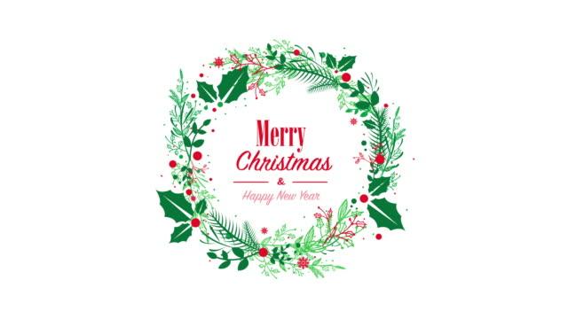röd grön jul krans - christmas decorations bildbanksvideor och videomaterial från bakom kulisserna