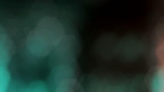 red green lights bokeh effect video