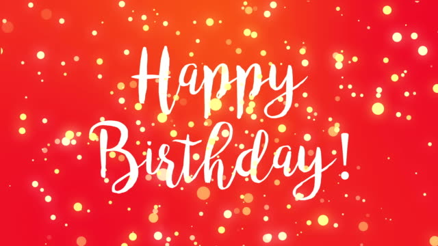 Royalty free happy birthday text hd video 4k stock footage b roll red happy birthday greeting card video video m4hsunfo