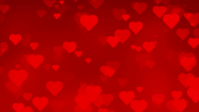 red heart background seamless paritcles - valentines day stock videos and b-roll footage