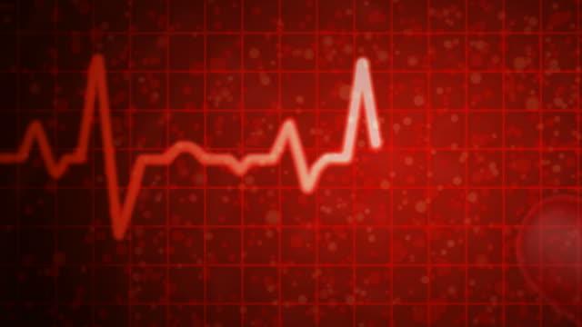 rote herzfrequenz-messgerät mit alpha - inneres organ eines tieres stock-videos und b-roll-filmmaterial