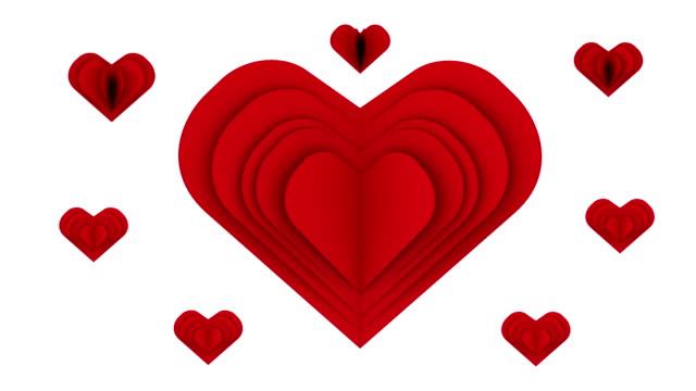 rotes herz eröffnung mit einem wort im inneren auf weißem hintergrund - valentinstags karte stock-videos und b-roll-filmmaterial
