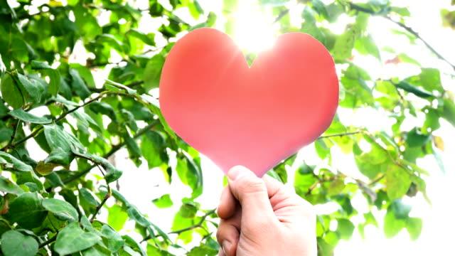 Red Heart Shape with Sunbeam