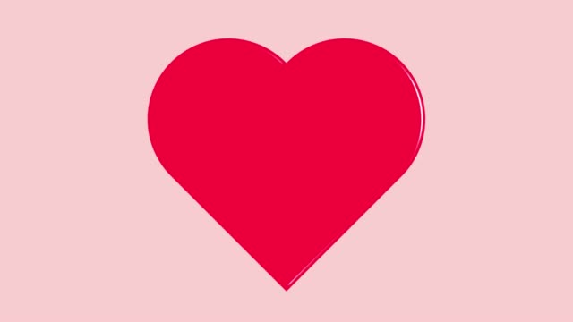 ピンクの背景に脈動する赤いハートのシンボル。 - 心臓点の映像素材/bロール