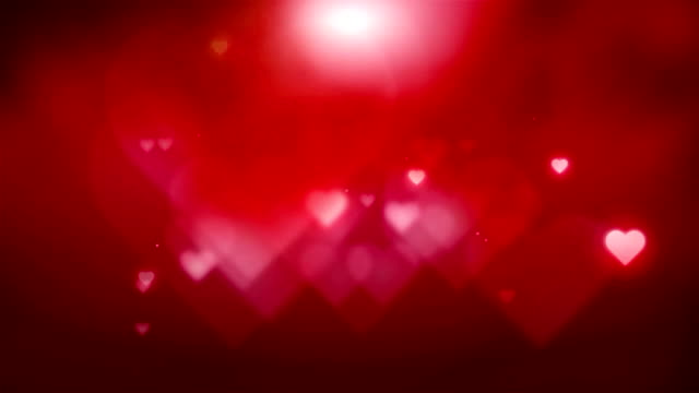 Red Hearts Background video